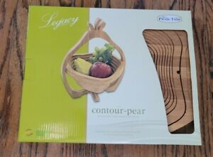 *Legacy Collection Picnic Time Wood Collapsible Pear Shaped Fruit Basket Trivet