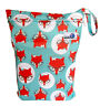 Waterproof Reusable Baby Cloth Diaper Nappy Wet & Dry Bag Swimmer Cute Green Fox