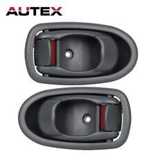 Pair Gray Interior Front Left Right LH RH Side Door Handle For 01-04 KIA SPECTRA