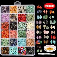 1200x DIY Mixed Jewelry Making Kit Earring Pendant Hook Stone Beads Craft Tools