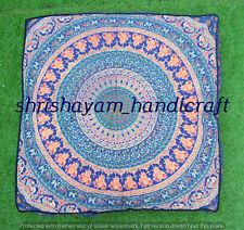 "35"" Hippie Square Home Decor Floor Cushion Indian Mandala Large Pillow Cover Art"