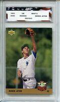 1993 Upper Deck #449 Derek Jeter Rookie Card AGC 9 Mint New York Yankees