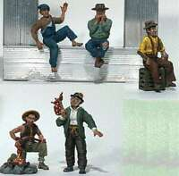 CAMPBELL WESTON FIGURE HO SCALE HOBO WITH STICK /& CAMPFIRE