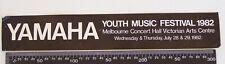 VINTAGE YAMAHA YOUTH MUSIC FESTIVAL 1982 MELBOURNE VIC ADVERTISING PROMO STICKER