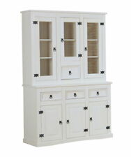 Anrichte New Mexico Kiefer Mexiko Highboard Kommode + Aufsatz Vitrine Schrank