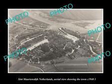 OLD LARGE HISTORIC PHOTO SINT MAARTENSDIJK NETHERLANDS TOWN AERIAL VIEW c1940 2