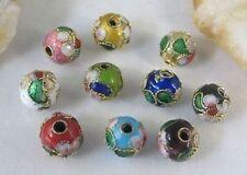 20pcs Mixed Color Cloisonne Enamel Round Beads 8mm E511
