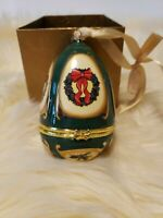 Mr Christmas Musical Egg Ornament  Valerie Parr Hill Christmas Wreath