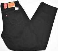 Levi's Jeans Men's 33x34 560 Comfort Fit Loose Tapered 5-Pocket Denim Black P177