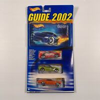 Hot Wheels 56033 Guide Book 2002 + 3 exclusive cars pack unopened