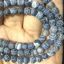 Beautiful 8mm black colour natural  jade beads gemstone loose beads 15 '' AAA+++