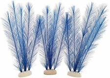 New listing Set of 3 Blue Aquarium Plant Decorations