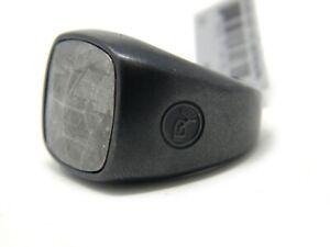 David Yurman Size 10 Faceted Cushion Signet Ring Meteorite Black Titanium NWT