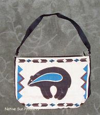 "Purse Handbag Southwest BEAR  Cotton Canvas 13x19"" Zips new"