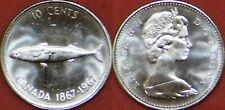 Proof Like 1967 Canada Silver 10 Cents From Mint's Set
