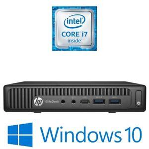 HP EliteDesk 800 G2 Mini Desktop PC Intel Core i7 6700T 8G 500G  Win 10 Pro