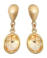 Ohrstecker Gold 585 mit Citrin Ohrhänger Ohrringe Goldohrstecker Zitrin 14 Kt
