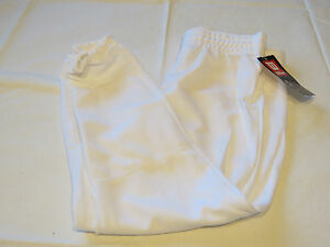 lot of 4 Wilson Athletic Youth XL Baseball Pull up Pants pant white A4204 NOS