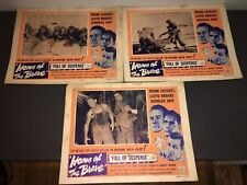 HOME OF THE BRAVE (1949) TOUGH WW2 WAR DRAMA - 3 LOBBY CARDS!