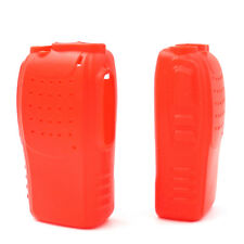 2PCS Red Radio Silicon Soft Case Cover For Walkie Talkie Baofeng BF-888S 777S