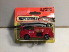 Matchbox No 13 Snorkel Fire Engine Sealed On Card