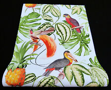 6302-07-) 3 Rollen moderne Vliestapeten Paradisio Papageien Vögel