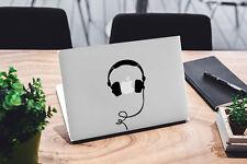 Calcomanía de los auriculares para Macbook Pro Pegatina de vinilo Laptop Mac Air Portátil Música DJ