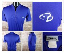 TREK Cycling Jersey Shirt 1/2 Zip 3 Rear Pockets Purple Short Sleeve XL