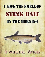 Channel Catfish Dip Stink Bait Tackle Poster Art Print Fishing Cabin Wall Decor