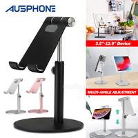Adjustable Aluminum Tablet Stand Holder Desk Table Mount For iPad iPhone Samsung