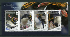 South Georgia & Sandwich Is 2017 MNH Macaroni Penguins WWF 4v M/S Birds Stamps