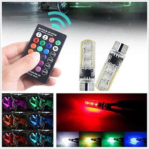 4 Pcs T10 5050 6LED 7-Color Clearance LED Light Indicator + Wireless Remote Kit