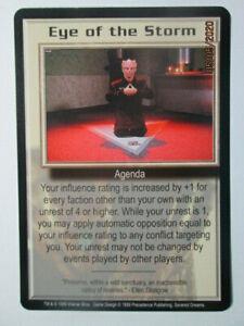 1999 BABYLON 5 CCG - SEVERED DREAMS - RARE CARD - EYE OF THE STORM