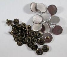 Druckknopf Metall  Knopf Knöpfe 10  Stück Kupfer-Farben    17 mm groß  #3305#