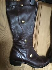 Ladies Victorian Style Brown Leather Button Boots Size 40 UK 6.5