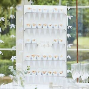 Ginger Ray Confetti Cone Wedding Party Table Stand Wall