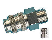 "Quick Release Valved Male Coupler 1/4""bspp Male Rectus 21KA Series"