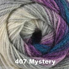 Hayfield Spirit DK 100g Self Striping Multi Coloured Knitting Yarn - All Shades 407 Mystery