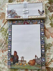 Sherri Buck Baldwin Lang Main Street Press Letter Pad Roosters & Envelopes NEW