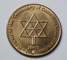 Canada 1867-1967 British Columbia 1866-1966 Centenary Medal AU++ Toned-Lustre