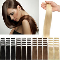 Full Head Tape in Remy Human Hair Extensions Seamless Skin Weft Real Human Hair