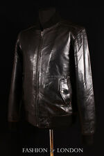 AIRBORNE Mens Black Real Leather Jacket WW2 Pilot RAF Bomber Leather Jacket 1229