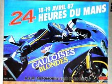 Affiche  24 Heures du Mans  Moto    1987      SONAUTO  YAMAHA  POSTER