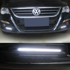 2pcs 12V LED COB Car Auto DRL Driving Daytime Running Lamp Fog Light White 14cm