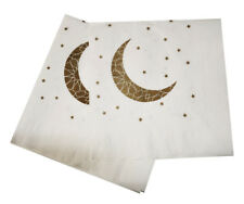 Ramadan and Eid Gold Crescent Moon Party Napkins (Pack of 20)