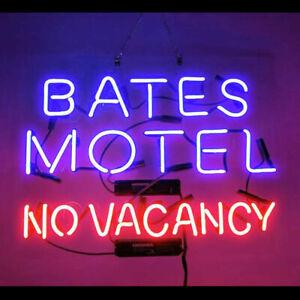 "New Bates Motel No Vacancy Neon Lamp Light Sign 17""x14"" Acrylic Glass Bar"