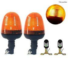 More details for 2x din pole warning spigot beacon lights fit john deere tractor