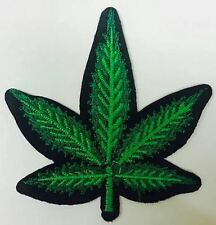 CANNABIS LEAF 'Hash' MARIJUANA  Embroidered Iron on patch FREE POSTAGE