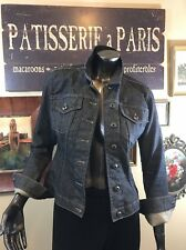 Women's French Connection Portugal XS-S Dark Denim Fitted Jacket Logo