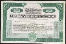 SOUTHERN PACIFIC GOLDEN GATE CO Stock 1929. San Francisco Bay Ferry System. NICE